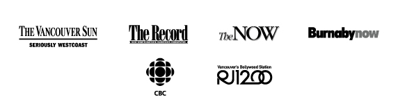 The Vancouver Sun — The Record — The Now — Burnaby Now —CBC — RJ1200